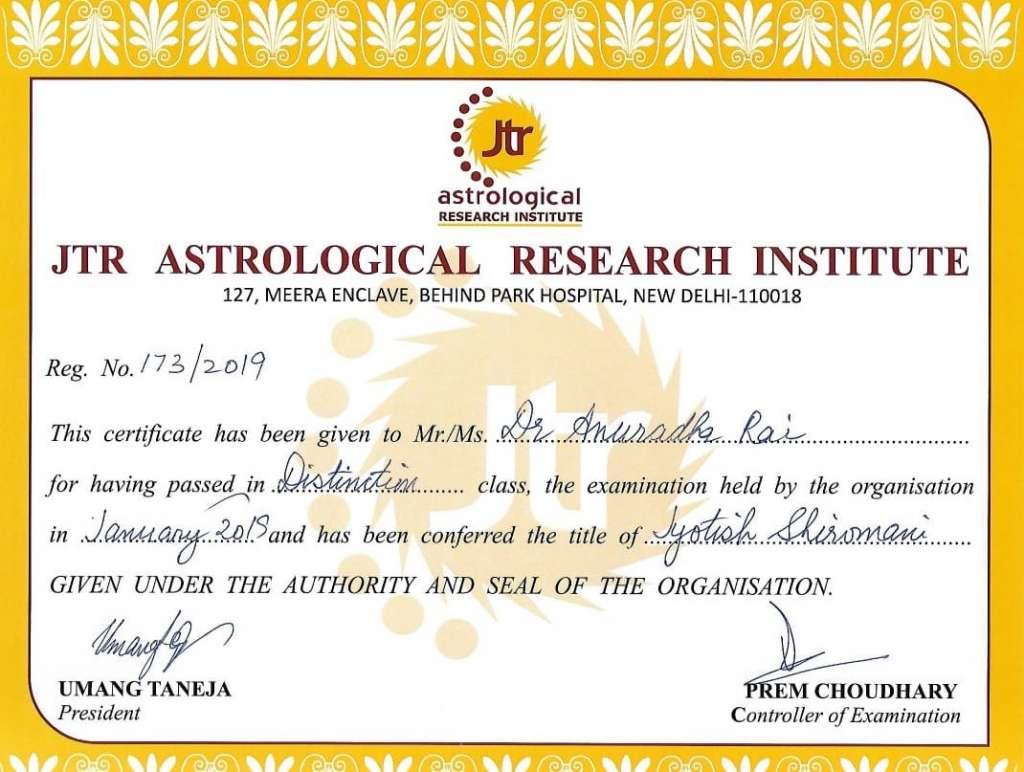 JTR Astrological Research Institute - Nadi Astrology